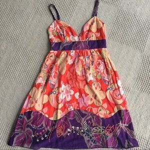 Ecote Urban Outfitters Floral Boho Sundress